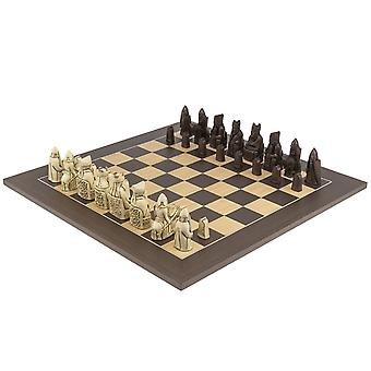 The Isle of Lewis Russet and Wenge Chess Set