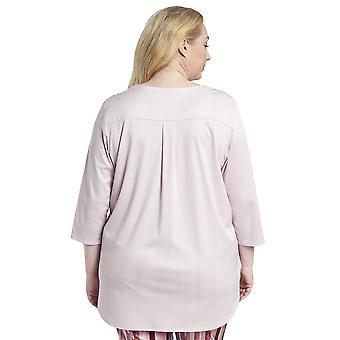 Rosch 1194530-11577 Damen Kurve neue Rose rosa Baumwolle Pyjama Top