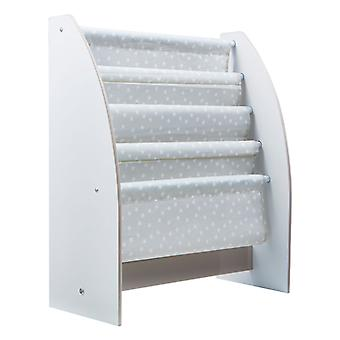 Grey and White Stars Sling Bookcase