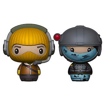 Fortnite Raptor & Elite Agent Pint Size Hero 2 Pk