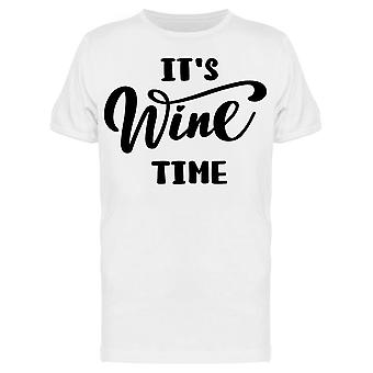 Its Wine Time Hand Drawn Tee Men's -Image by Shutterstock