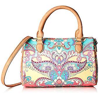 Desigual Bag Grand Valkiria Bowling Med Women - Orange Women's Wrist bags (Coral) 13.7x18x27 cm (B x H T)