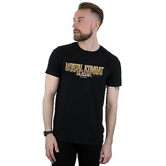 Mortal Kombat Men's Klassic Logo Distressed T-Shirt