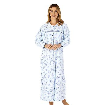 Slenderella ND4214 Women's Woven Floral Cotton Nightdress