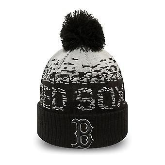 Nowa era dzieci Winter Hat Bobble Beanie Boston Red Sox