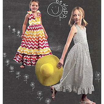 Children's Girls' Dresses  7  8  10  12  14 Pattern M6736  Chj