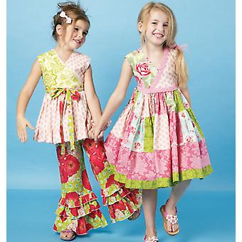 Children's Girls' Top, Dress And Pants  Cdd 2  3  4  5 Pattern M6497  Cdd