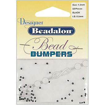 Bead Bumpers 1.5Mm 50 Pkg Black 522 0112