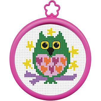 My 1St Stitch Owl Mini Counted Cross Stitch Kit 3