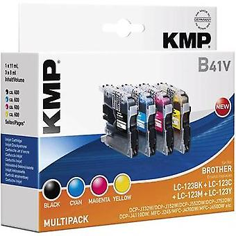 KMP replaced Brother LC-123 Compatible Black, Cyan, Magenta, Yellow B41V 1525,0050