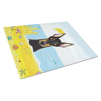 Doberman Summer Beach Glass Cutting Board Large BB2113LCB