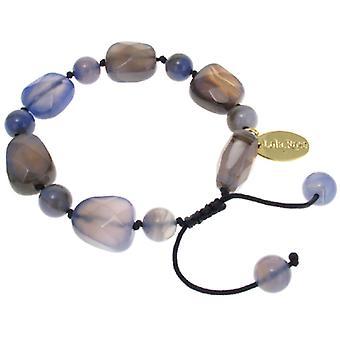 Lola Rose Tasia Bracelet Blue Stripe Agate