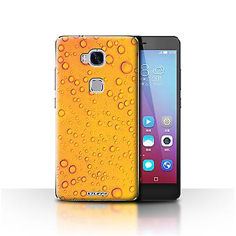 STUFF4 Case/Cover for Huawei Honor 5X/GR5/Orange/Yellow/Water Droplets
