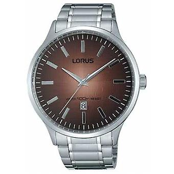 Lorus Mens Stainless Steel Strap Brown Dial RH997FX9 Watch