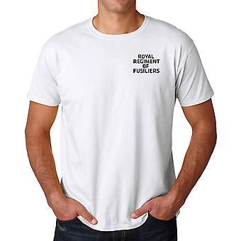 Regimiento real de Fusiliers texto bordado Logo - oficial ejército británico algodón T Shirt