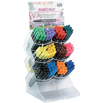 Ball & Brush Fabric Marker Display 144pcs-12 Each Of 12 Colors 122-12D