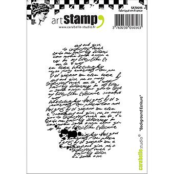 Carabelle Studio Cling Stamp A7-Writing Background SA70096