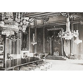 The Throne Room Buckingham Palace London England In The Late 19Th Century From London Historic And Social Published 1902 PosterPrint
