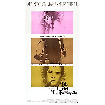 The Girl On A Motorcycle Marianne Faithfull Alain Delon 1968 Movie Poster Masterprint