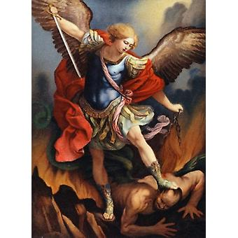 St. Michael Archangel Nostalgie Cards-Farbe-Lithographie-Plakat-Druck