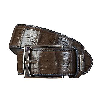 OTTO KERN belts men's belts leather belt brown/chocolate 1553