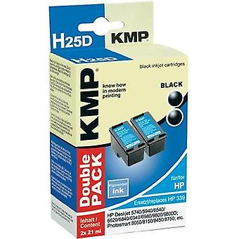 KMP Ink replaced HP 339 Compatible Pack of 2 Black