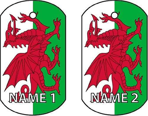 Personalised Wales Dog Tag Car Air Freshener
