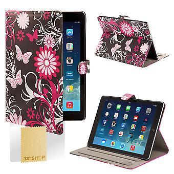 Design Book Angle Stand Folio Case for Apple iPad Mini 4 (4th Gen) - Gerbera