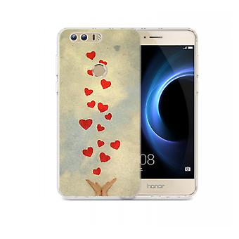 Capa Hand and hearts para Huawei Honor 8