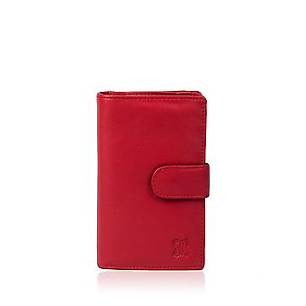 Leather Purse 14.5cm in Red