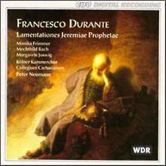 F. Durante - Francesco Durante: Lamentationes Jeremiae Prophetae [CD] USA import