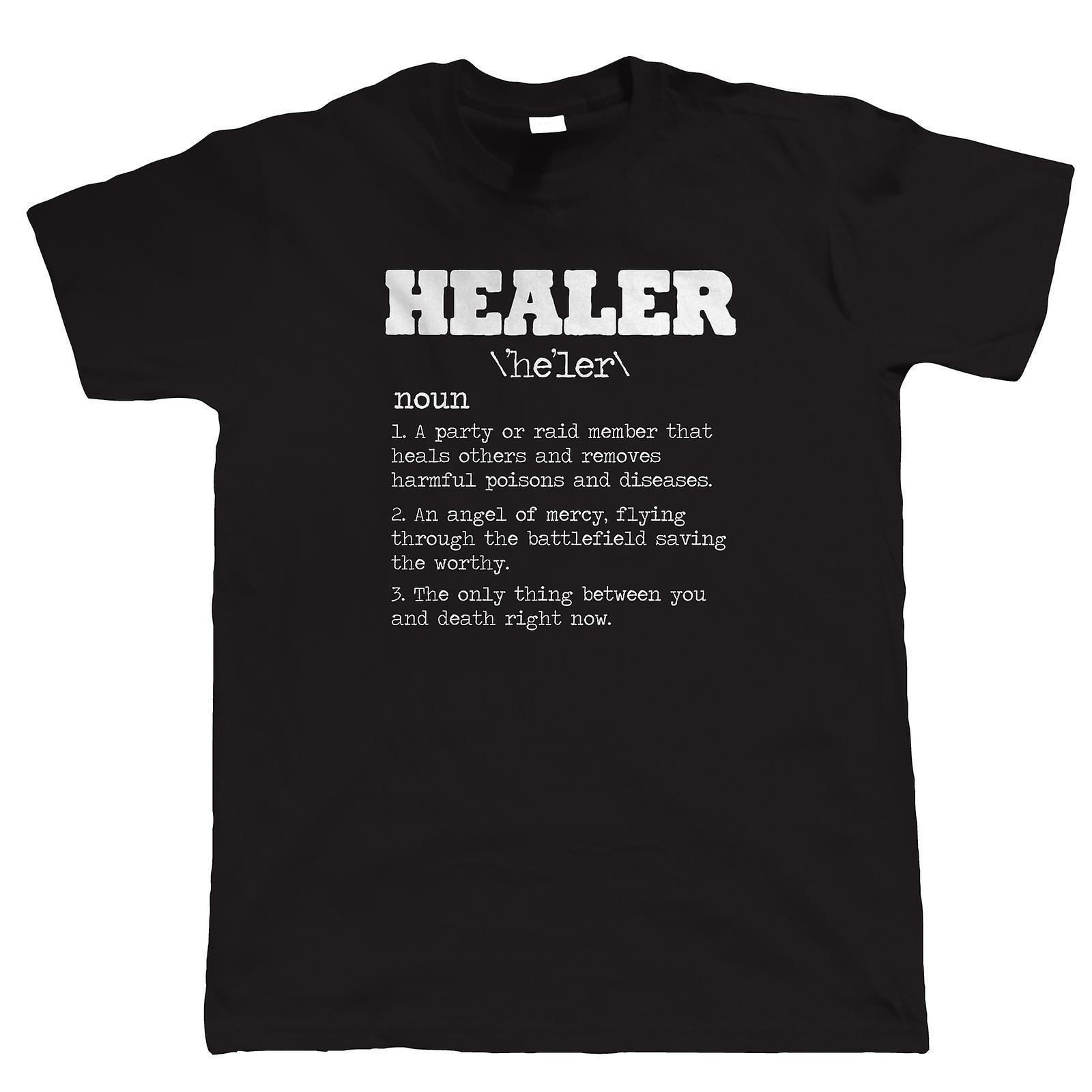 Healer, Mens Funny Gamer T-Shirt