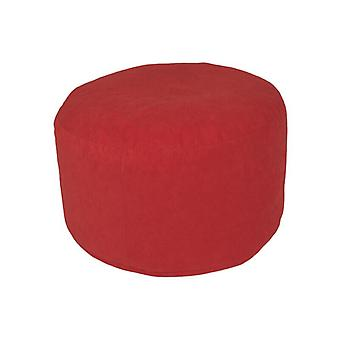 Stool seat footstool Pouffe Mikrovelour red size: 47 x 47 x 34 cm