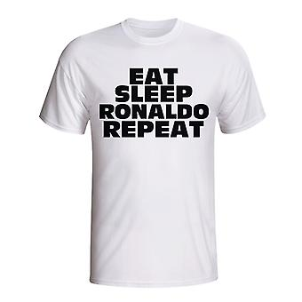 Eat Sleep Ronaldo Repeat T-shirt (white)