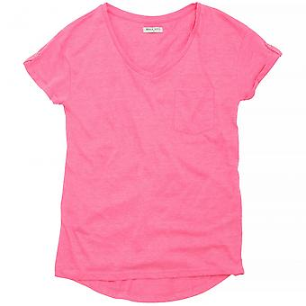 Brave Soul Womens/Ladies Katie V-Neck T-Shirt With Turnback Cuffs