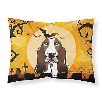 Halloween Basset Hound Fabric Standard Pillowcase