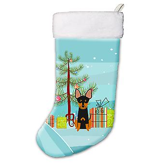 Merry Christmas Tree English Toy Terrier Christmas Stocking