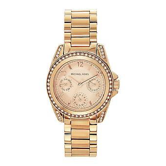 Michael Kors Watches Mk5613 Ladies Chronograph Rose Gold Tone Stainless Watch