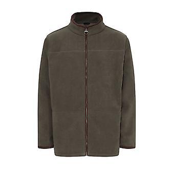 Mens kampioen land Estate Berwick stijl Fleece jas met Faux Suede bekleding