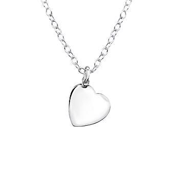 Hjerte - 925 Sterling Sølv Plain halskæder - W20505X