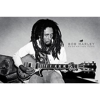Bob Marley - innløsning sangen plakat plakatutskrift