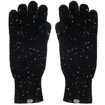 Animalske Falcann strikkede handsker - sort