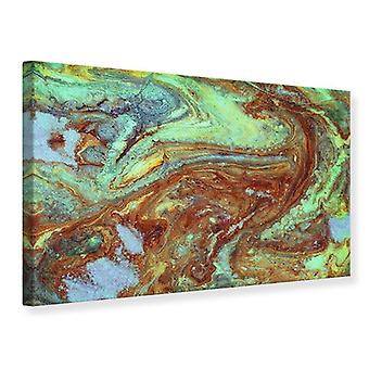 Canvas Print Marble In Green