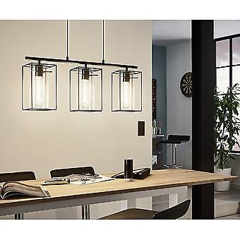 Eglo Triple Island Pendant With Glass Tubular Shades