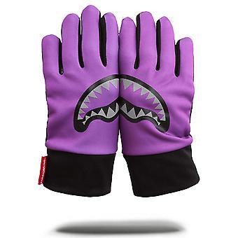 Sprayground Purple Shark Gloves - Purple