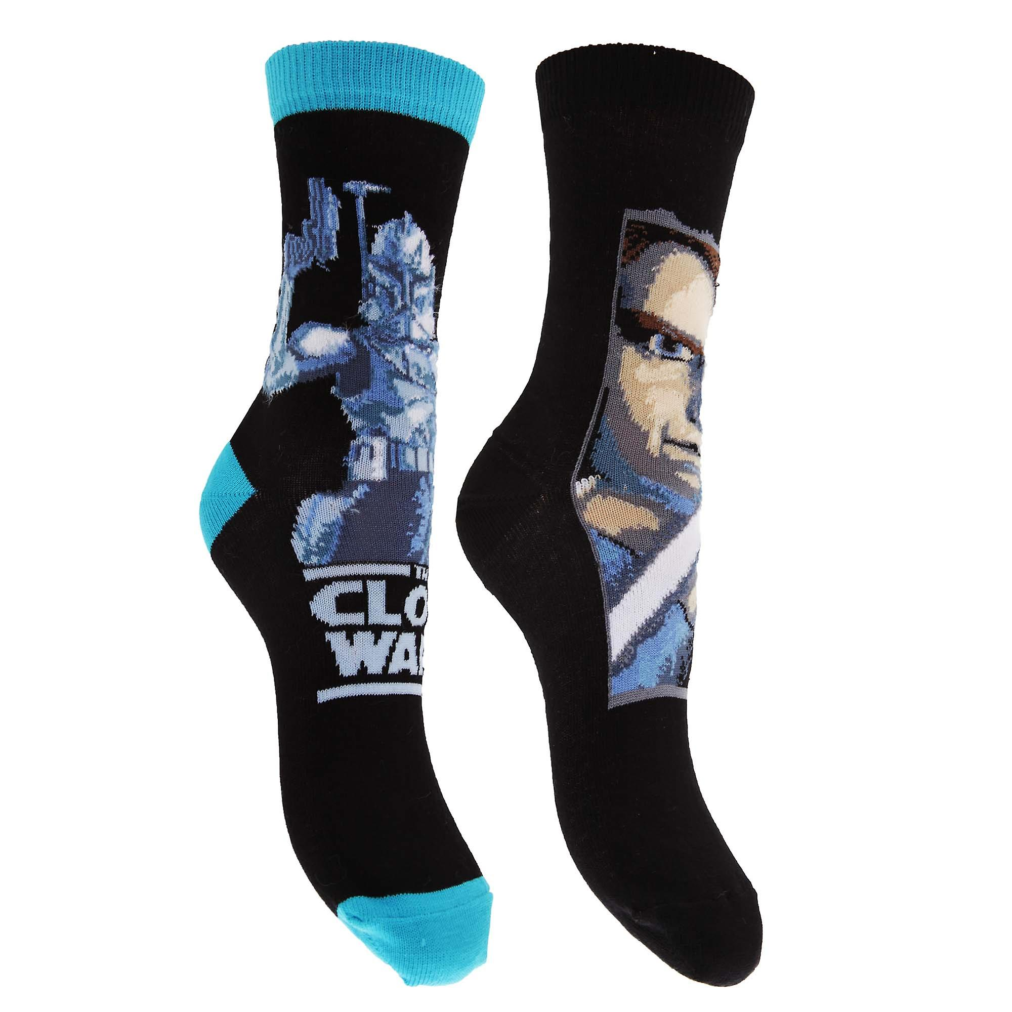 Star Wars Childrens Boys Cotton Rich Clone Wars Design Socks (Pack Of 2)