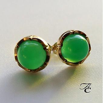 Gold Earrings with agate