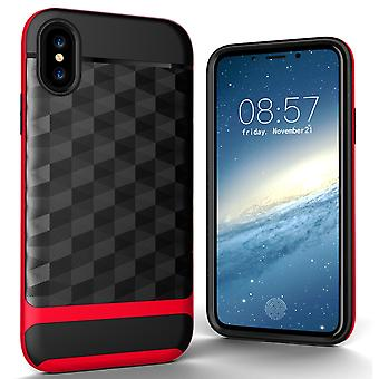 IPhone X / 10 back cover case cell phone case for Apple cover - cover 3D Prism design Red