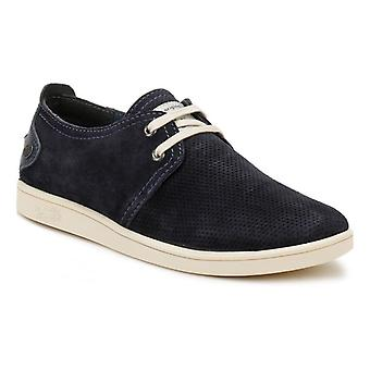 Penguin Mens Navy Life Suede Shoes