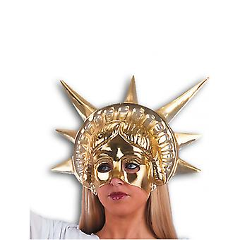Statua di Liberty Gold maschera